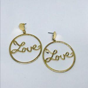Jewelry - Love Statement Hoops Fashion Earrings